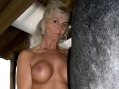 Polish MILF fucks with a horse...